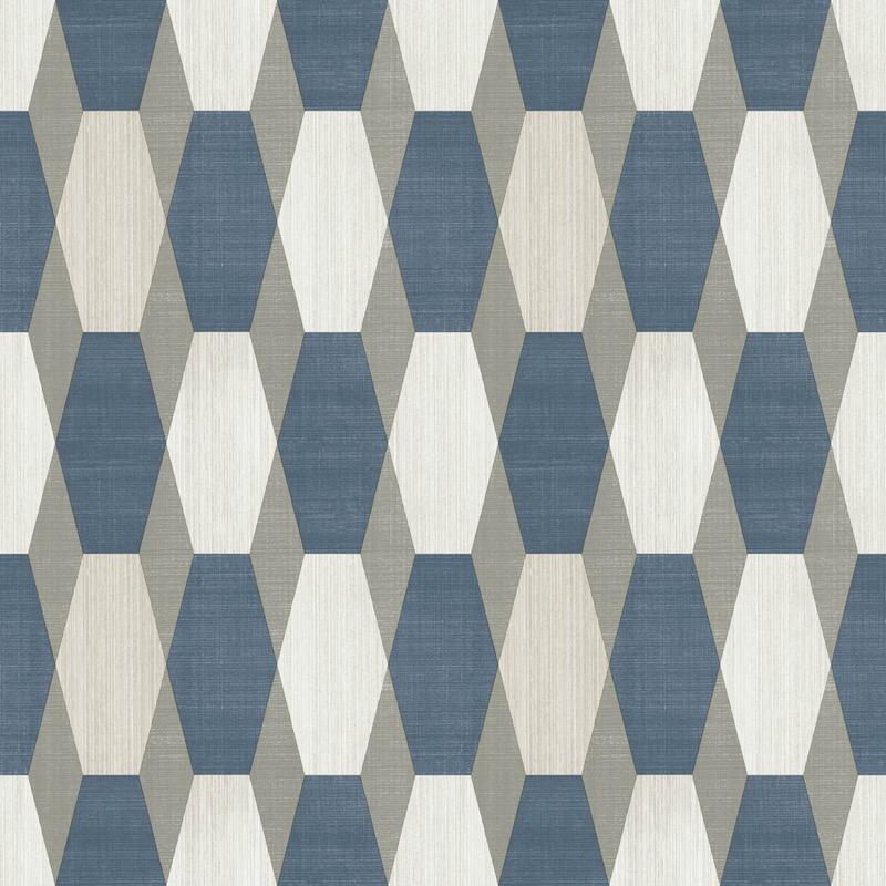 v2077301m Tasteful geometric feature in navy, beige and white