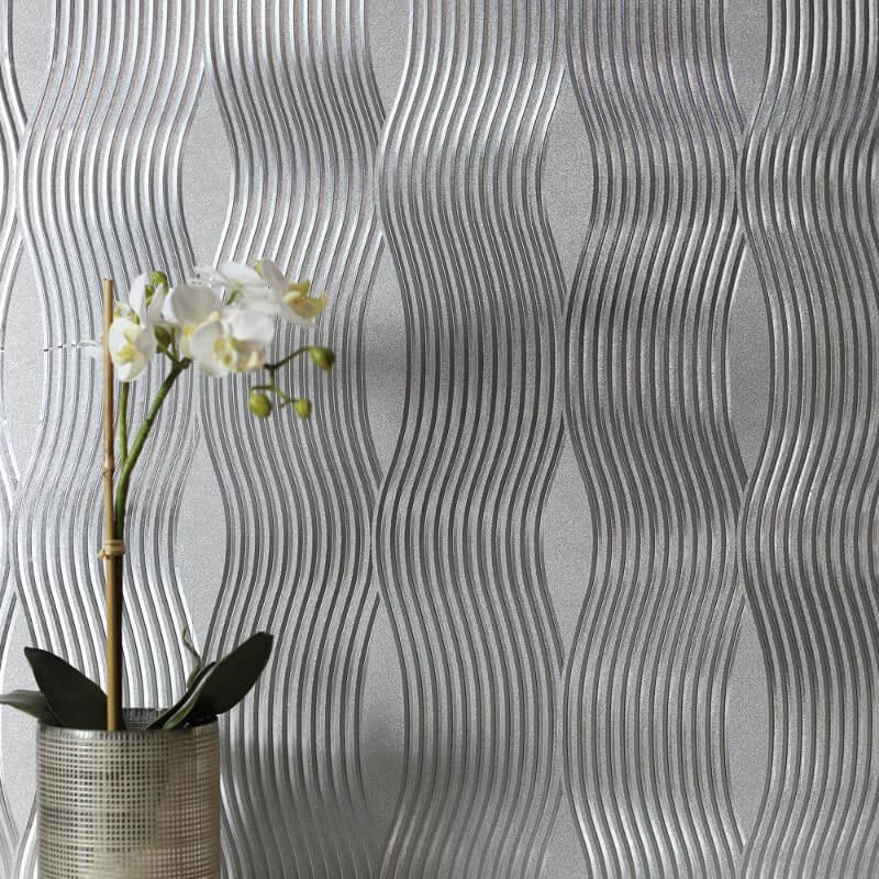 v29400501a Beautiful metallic foil wave on luxury vinyl.