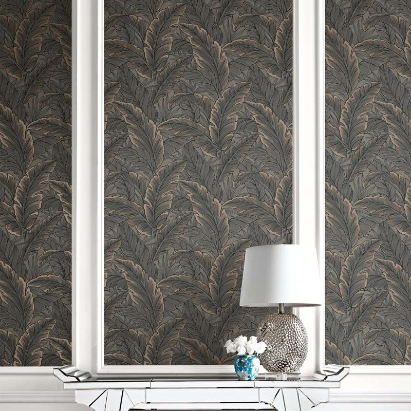 vs1033048pt Dramatic designer flowing leaf design. Fabulous feature wall with a sense of adventure