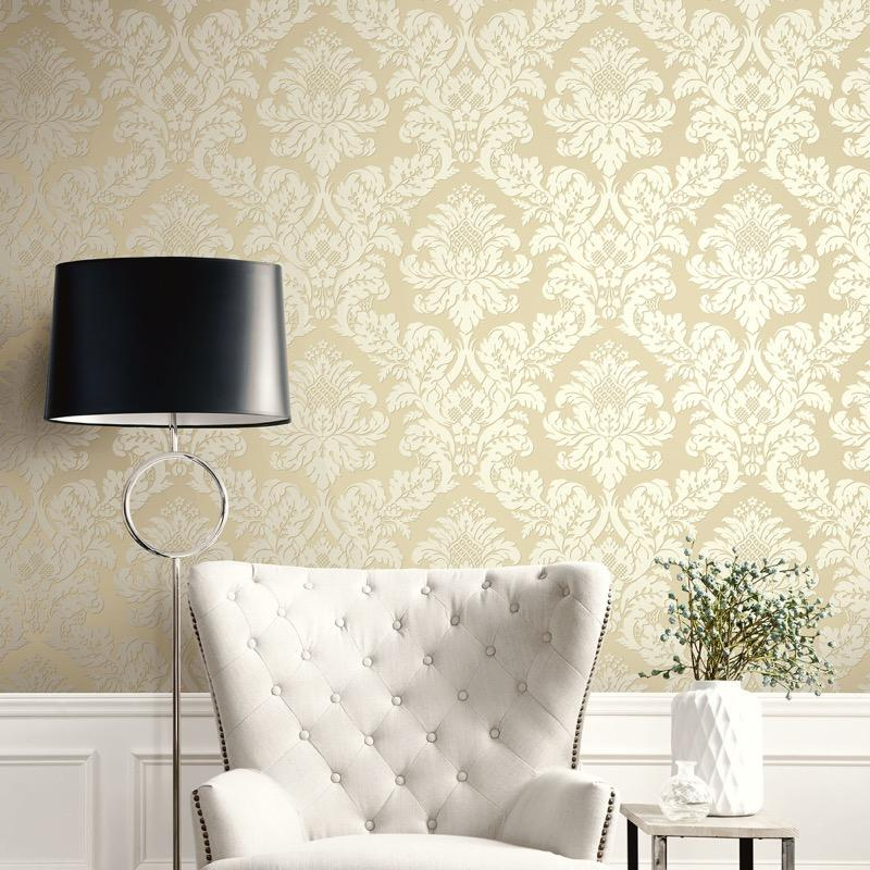 vs1066483pt straw gold damask. Classical elegance and the ultimate in fashionable fusion with a light dusting of glitter over the lighter area
