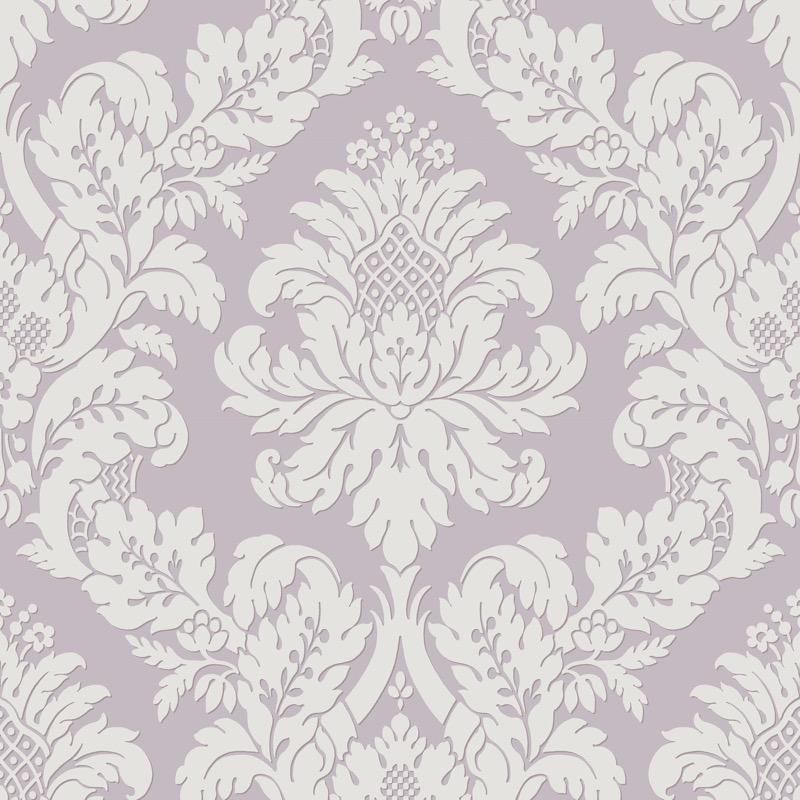 vs1088481pt Dusty, slightly blued, Pink Damask. Classical elegance and the ultimate in fashionable fusion with a light dusting of glitter over the brighter area