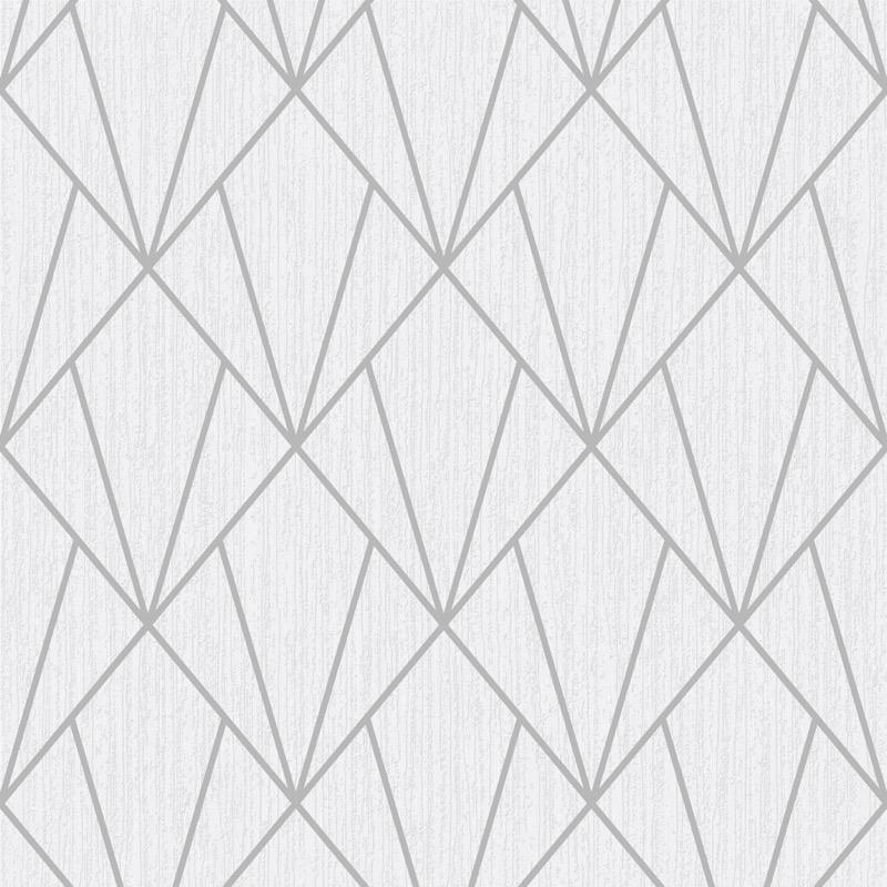 vs15400101m White and silver modern geometric pattern with glitter highlights. Fabulous feature or four walls.