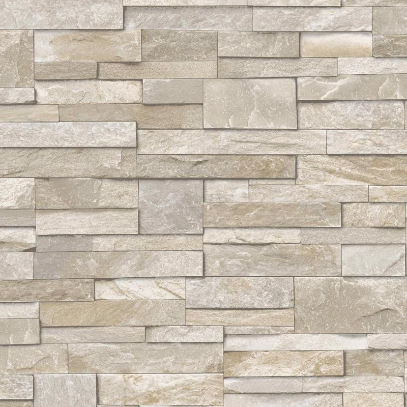 vs1744203g Hi Quality, realistic 3D photo-real, fully washable, matt finish, stone brick effect vinyl. Harder wearing for high traffic areas, also suitable for kitchens and bathrooms