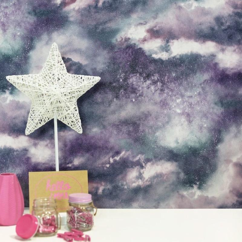 vs26099007a Gorgeous galaxy glitter clouds. Perfect for a bold and stylish feature wall.