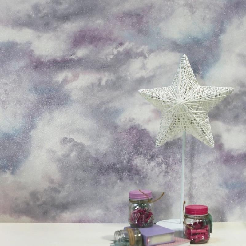 vs26099008a Gorgeous galaxy glitter clouds. Perfect for a bold and stylish feature wall.
