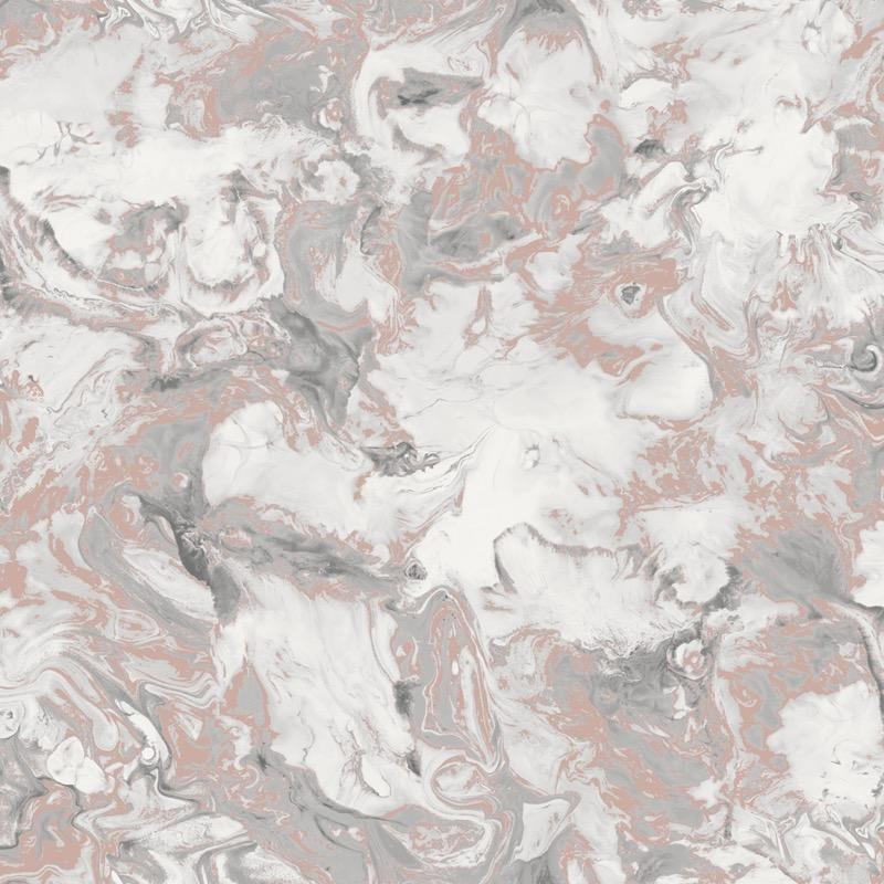 w16688502m Fabulous shimmering oil on water marbled effect in multitone taupe with rose gold and ivory