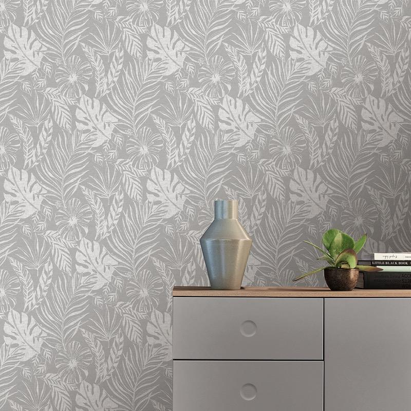 w21500502r Dramatic flowing leaf design. Fabulous feature wall with a sense of adventure.