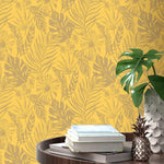 w21566526r Dramatic flowing leaf design. Fabulous feature wall with a sense of adventure.