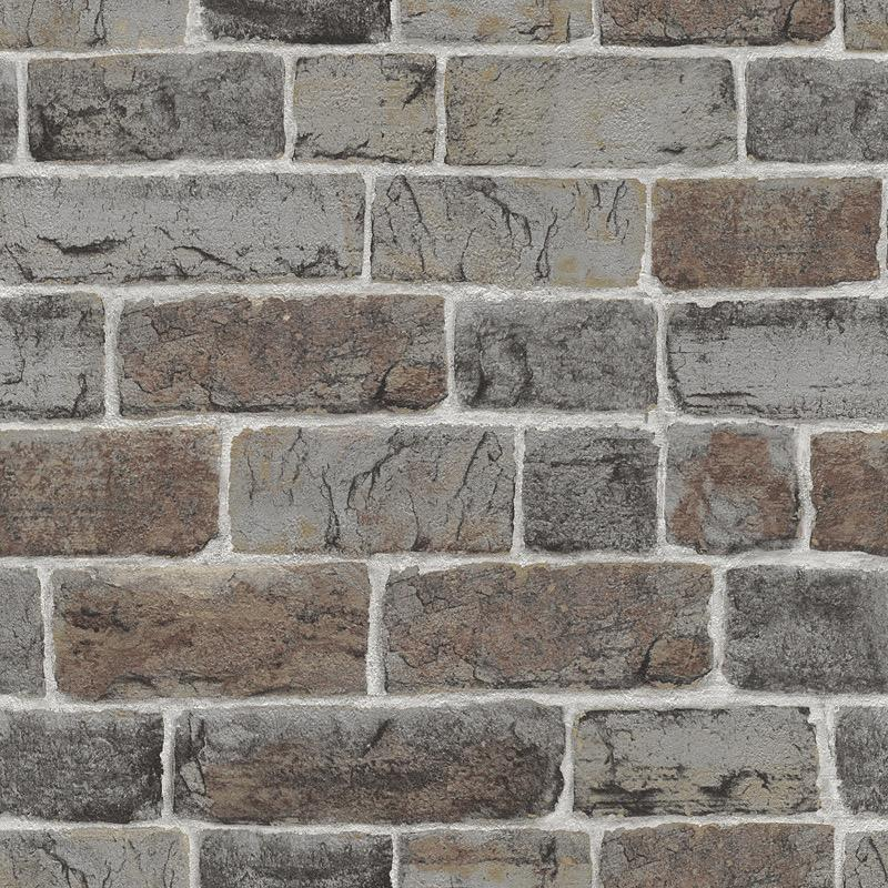 w21733339r grey brown natural brick effect wallpaper
