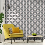 w4200549f Funky geometric design in grey