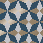 w4277548f Funky geometric in navy blue
