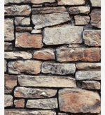 w66833900a Fabulous photo-real natural stone effect feature wallpaper in warm tones.