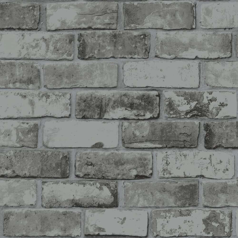 w670053m Stylish rustic 3-D brick effect in charcoal grey