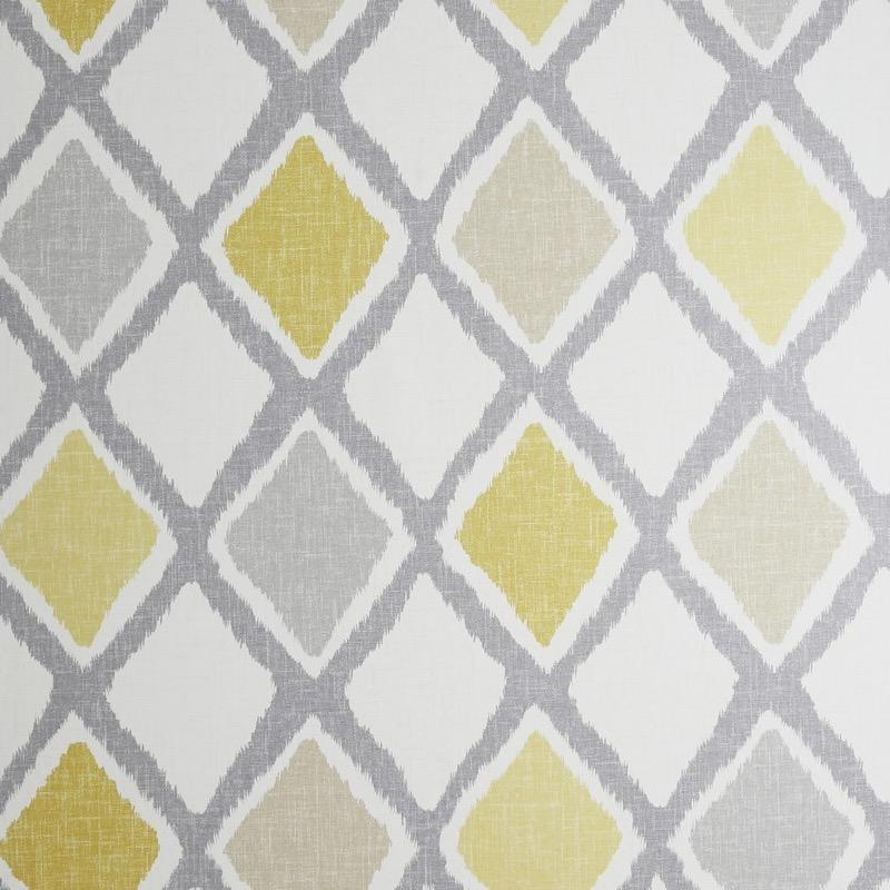 w90766505a Diamond geometric in yellow, grey and creams
