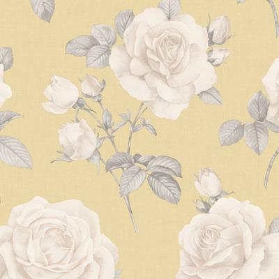 w976665b Beautiful and elegant vintage feature floral design in cream and yellow