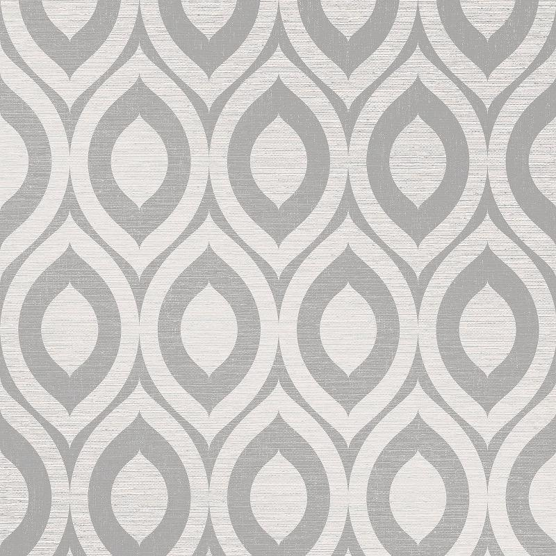 wm110060c Tasteful grey linen textured geometric creates a spacious modern feature