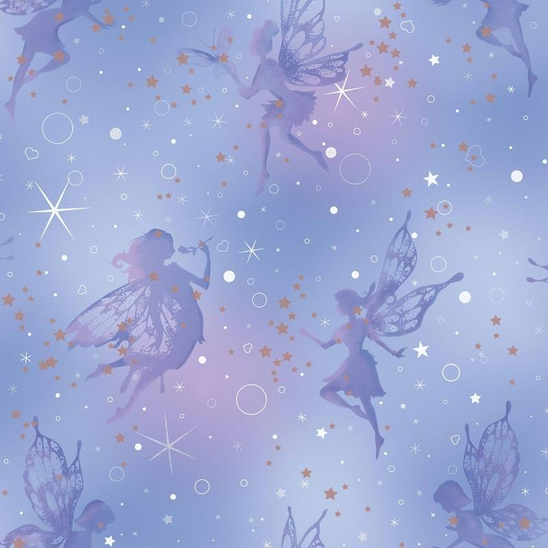 wm149922c A beautiful magic fairy design highlighted with glitter to add a gorgeous shimmer. Perfect for a feature wall.