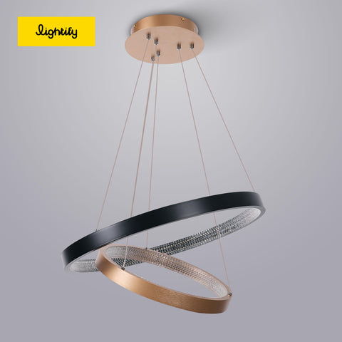 Double Ring-black & gold