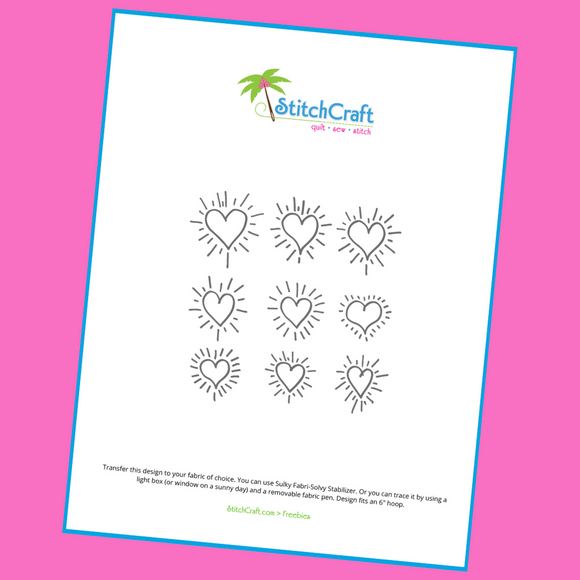 Free Heart Embroidery Sampler Pattern