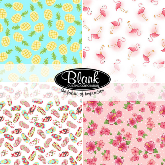 Let's Flamingle Blank Quilting