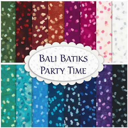 Party Time Confetti Bali Batiks Hoffman Fabrics