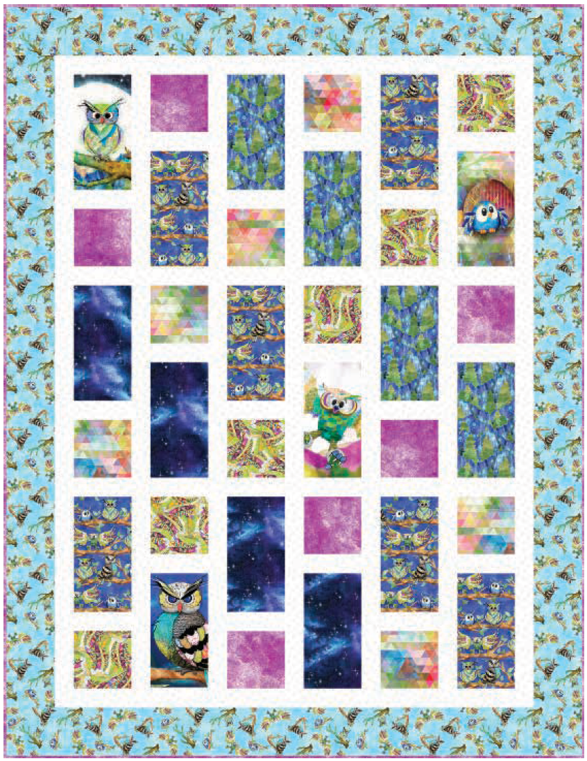 Go Owl Out 3 Wishes quilt pattern StitchCraft