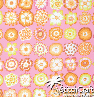 Button Flowers - Pink