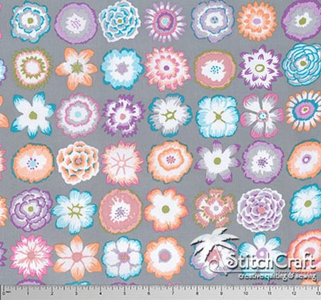 Button Flowers - Grey