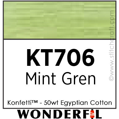 Konfetti 706 - Mint Green