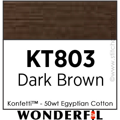Konfetti 803 - Dark Brown