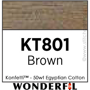 Konfetti 801 - Brown