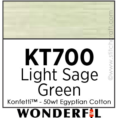 Konfetti 700 - Light Sage Green