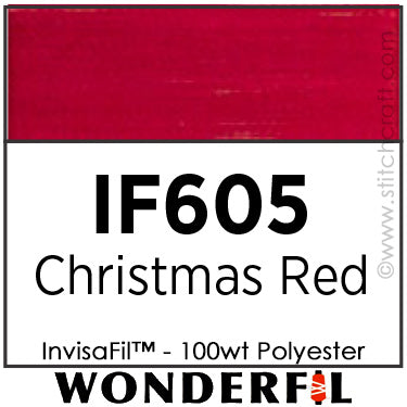 InvisaFil 605 - Christmas Red