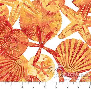 Ocean Tides 21513-56 White Orange
