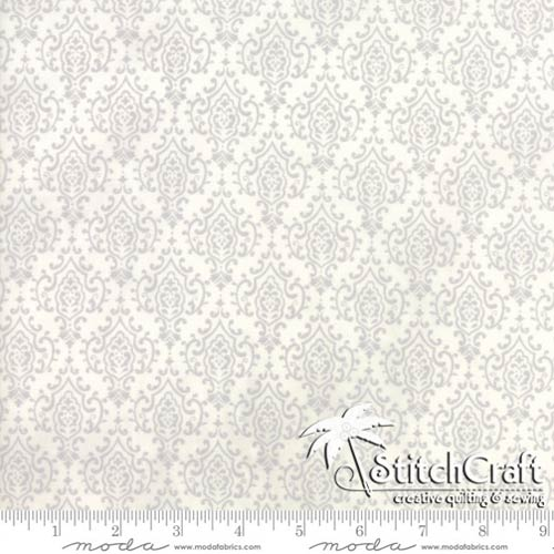 Monatone Damask - Laurel White