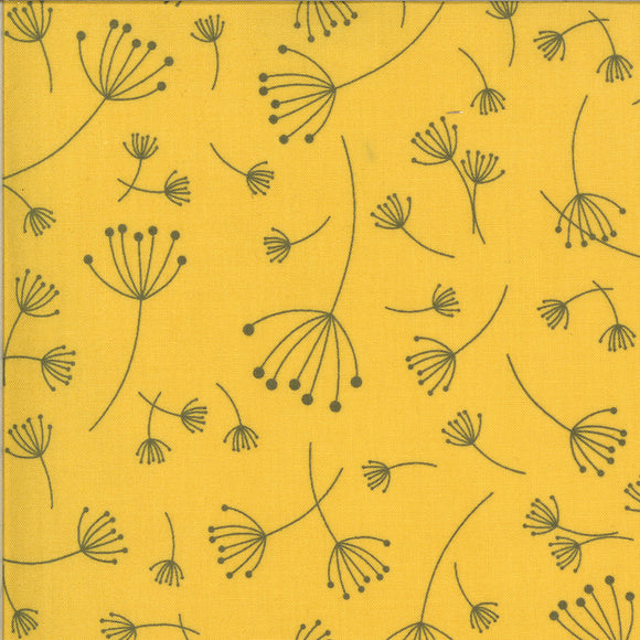 Quotation Mustard Zen Chic Moda Fabrics