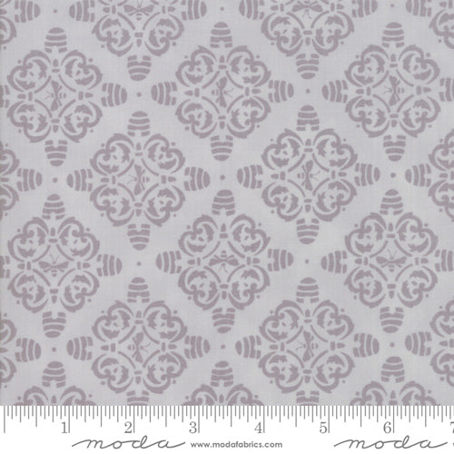 Bee Hive Damask - Dove Grey