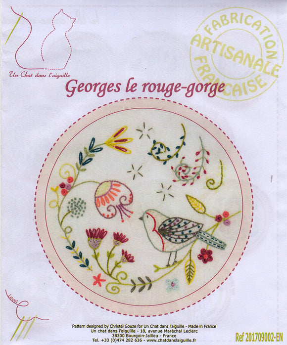 Georges, the Red Bird Embroidery Kit