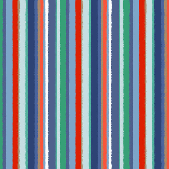 Stripe - Navy / Red
