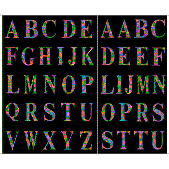 Alphabets Panel - Black