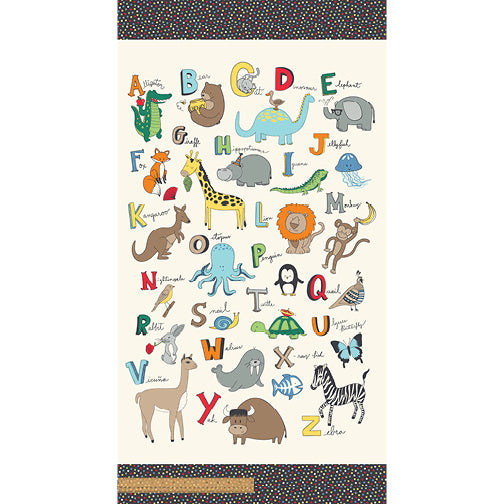 A to Zoo Animal ABC Panel Windham Fabrics