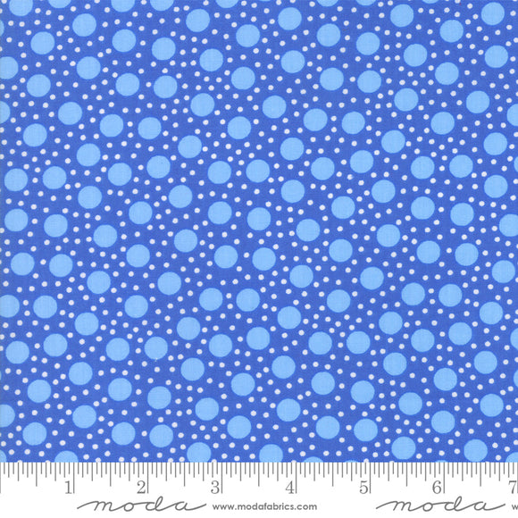 Back Porch Bountiful Blue Small Dots Me and My Sister Designs Moda Fabrics