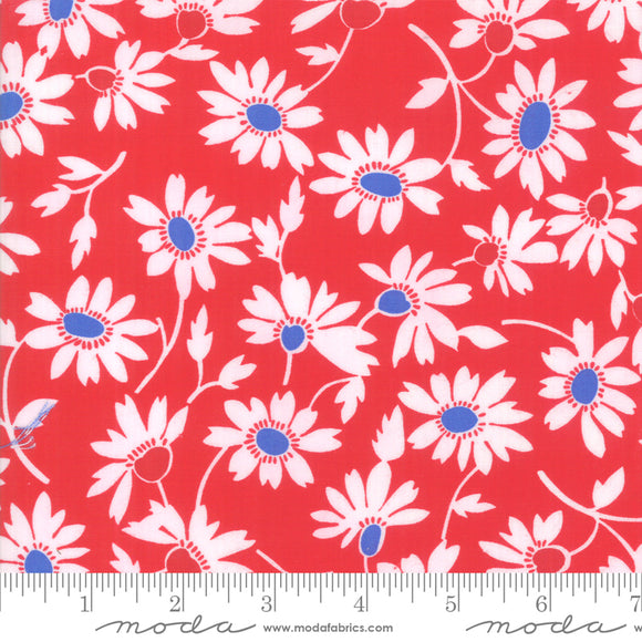Back Porch Country Red Small Flowers Me and My Sister Designs Moda Fabrics