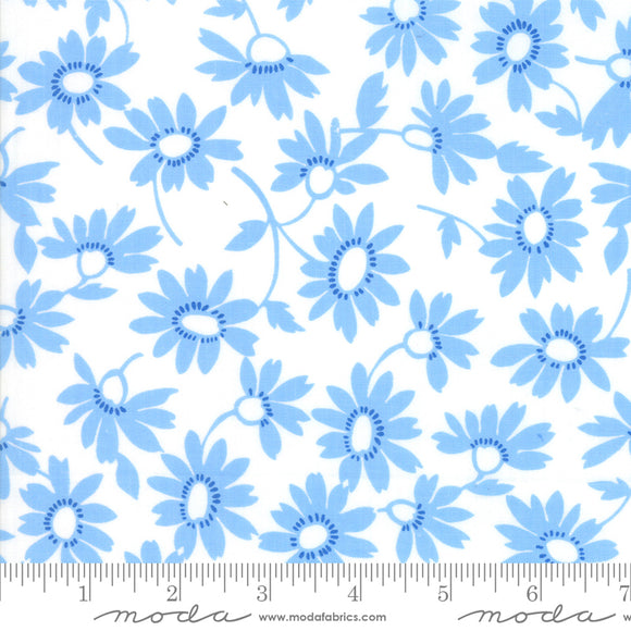 Back Porch White Blue Me and My Sister Designs Moda Fabrics