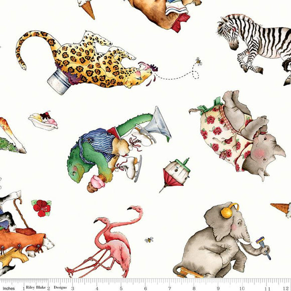Hungry Animal Alphabet Toss Off White
