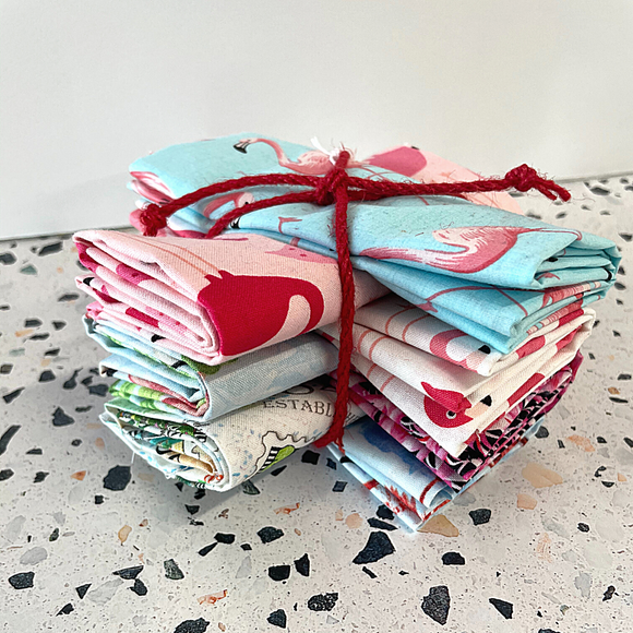 Flamingo Fat Quarter Bundle - 7 FQ