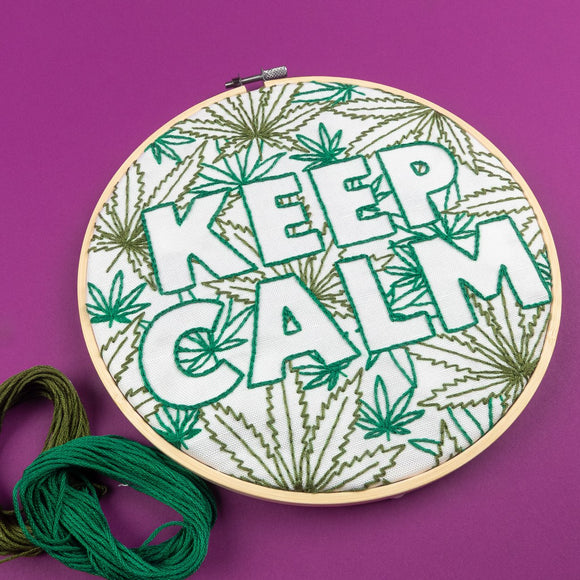 Keep Calm Embroidery Kit PopLush Embroidery