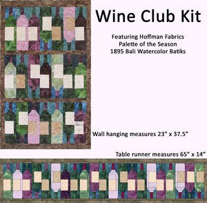 Wine Club Quilt Kit