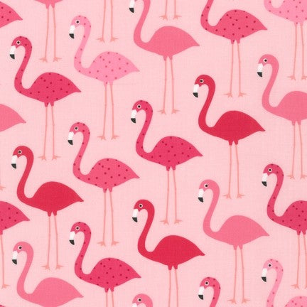 Pink Flamingos on Pink