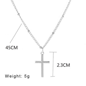 Classic Retro Jesus Cross Pendant Necklace Charming Women's Choker Chain Pendant Fashion Ladies Christian New Year Jewelry Gifts - Shirt King Shop